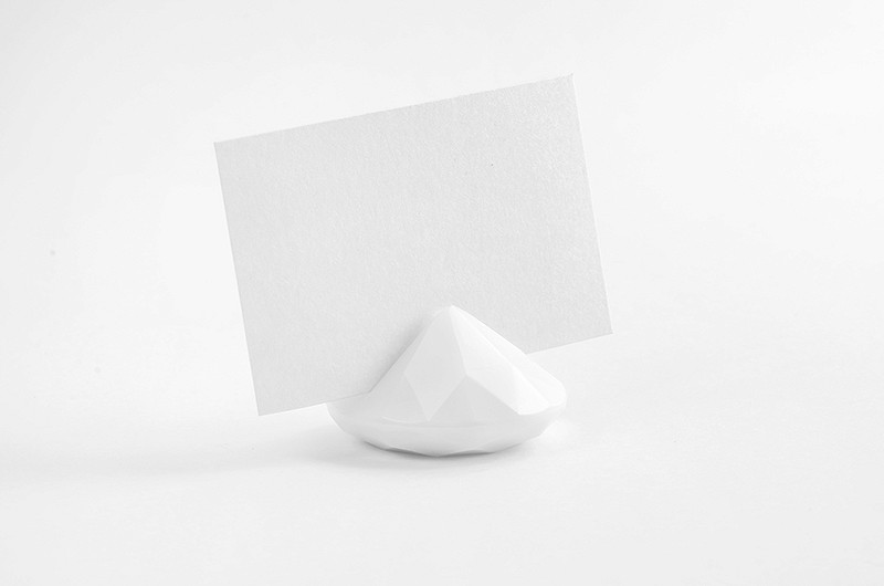 bordkortholder diamant 10 stk hvit pynt til fest tips