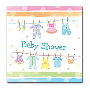 Servietter Babyshower