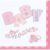 Servietter Babyshower Rosa