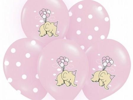 Ballong Elefant Rosa