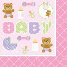 Servietter Baby Rosa