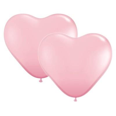 Hjerteballonger Rosa DL
