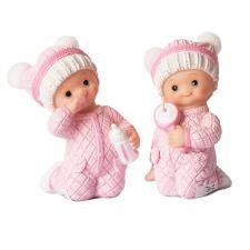 Babyfigur 8 cm Rosa