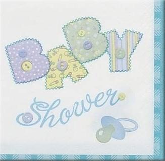 Servietter Babyshower Bl�