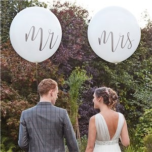 Ballonger Rustic Country Mr & Mrs 100cm diameter