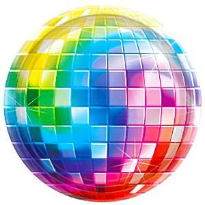 Disco Party Papptallerkener 8 stk