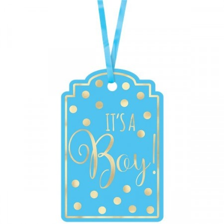 It´s A Boy Blue Tags 25 stk