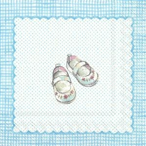 Servietter For My Little Baby Light Blue Kaffe 20 stk