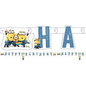 Minions Bursdagsparty Banner