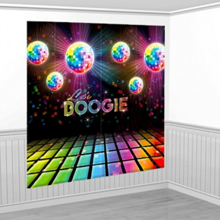 Disco Fever Scene Setter Wall Decorating Kit 1.65m x 1.65m