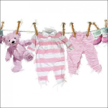 Servietter Baby Girl Clothes Lunsj 20stk