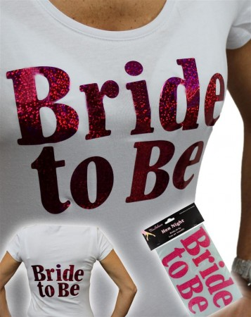 Bride To Be Pink Stryk på Logo
