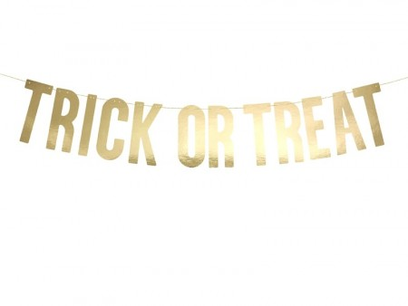 Banner Trick or Treat Gull 12x80 cm