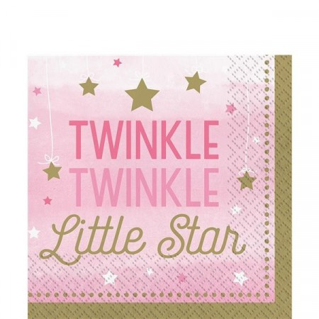 Little Star Rosa Servietter 16 stk