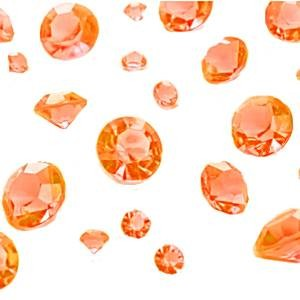Diamanter 100 gram Oransje