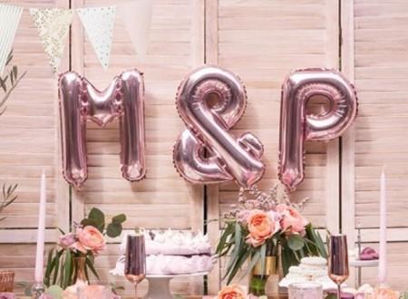 Folieballonger Bokstaver Rose 35cm