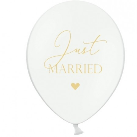 Ballonger Just Married 6stk PL