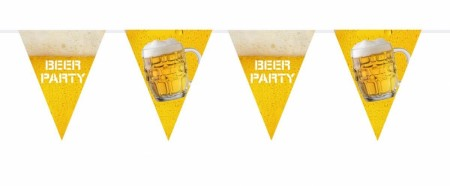 Beer Party Flaggbanner i plast 6meter