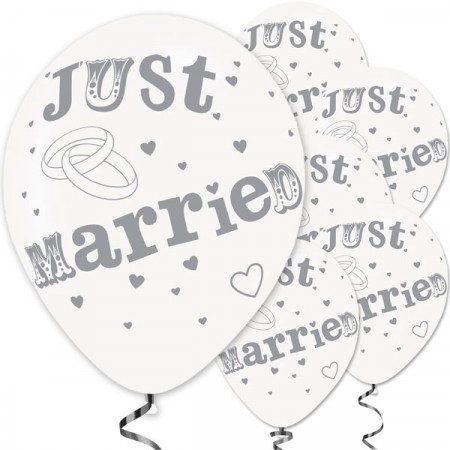 Ballonger Just Married 6 stk