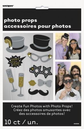 Photo Booth NEW YEAR 10 stk