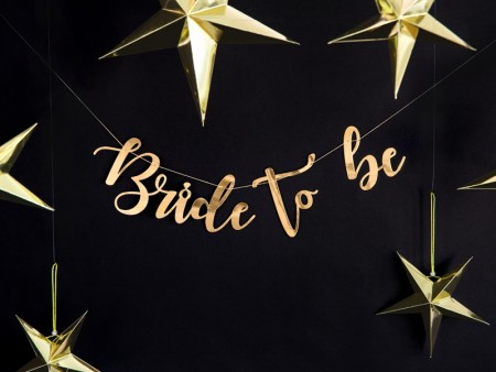 Banner Bride to be gull 80x19cm PL