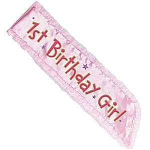 1st Birthday Girl´s Sash