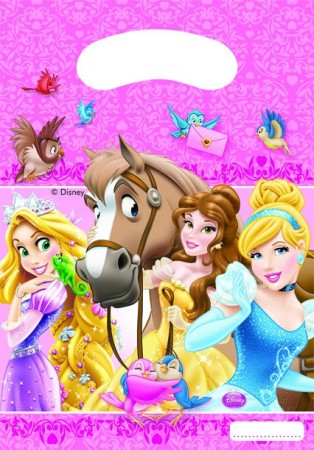 Prinsesser Party Bags 6 stk