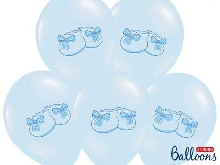 Ballonger 30cm Bootee Pastel Baby blue 6stk