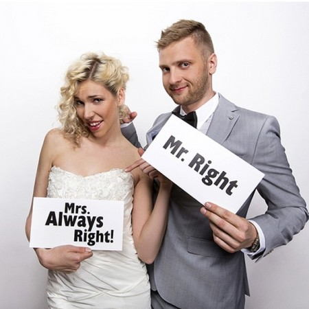Mr Right Mrs Always Right Photo Prop