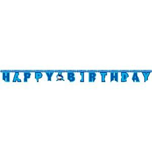 Shark Happy Birthday Banner 2.4m