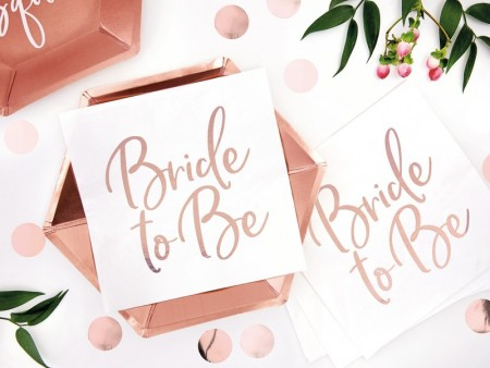 Servietter Bride to be rosegold 20stk Lunsj