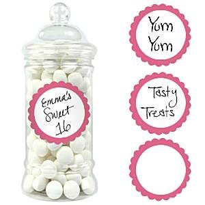 Candy Buffet Klistremerker Hot Pink
