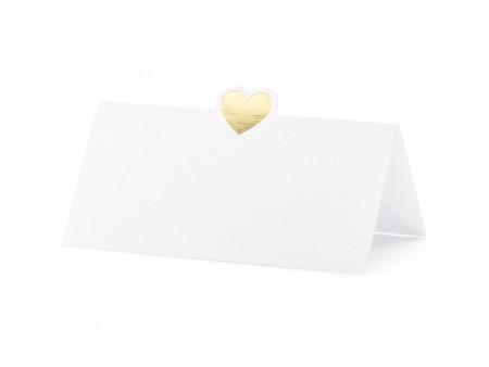 Bordkort hjerter