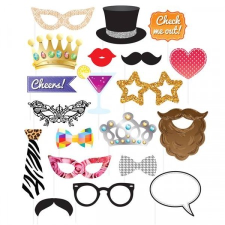 Photo Booth Party Kit 20 stk