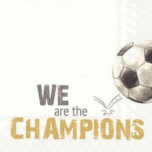 Servietter We Are The Champions Gold Lunsj 20 stk