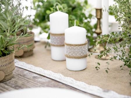 Lys og bånd til bryllup