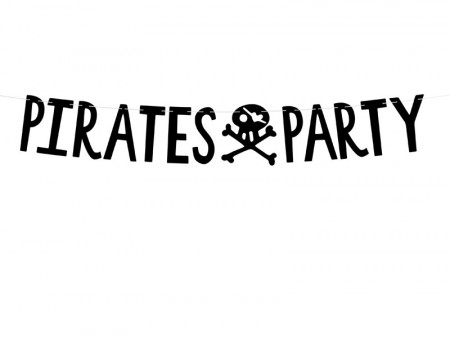 Pirates Party Banner black 14x100cm