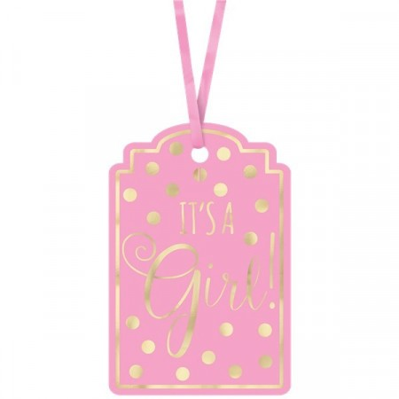 It´s A Girl Pink Tags 25 stk