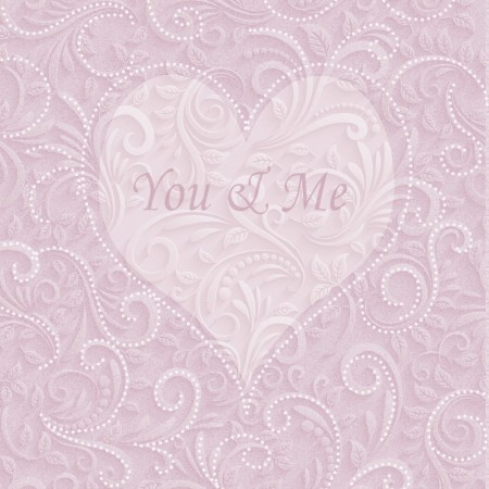 Serviett 3-lags You & Me Rose Lunsj 20stk