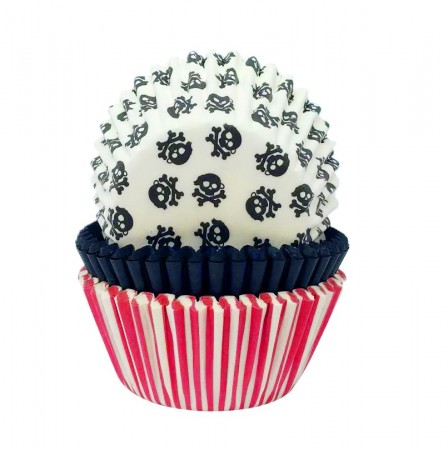 Cupcakeformer Pirat Party 75stk 4,8x3,2cm
