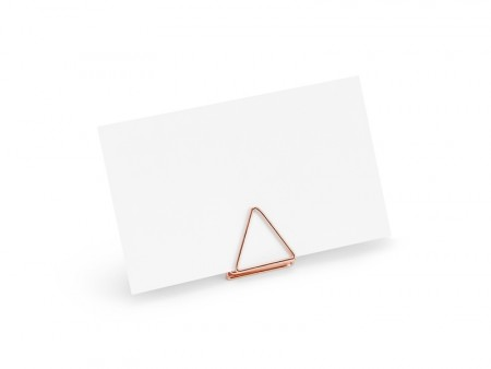 Bordkortholdere Triangles rosegold 10stk