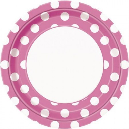 Polka Dot Hot Pink Middagsfat