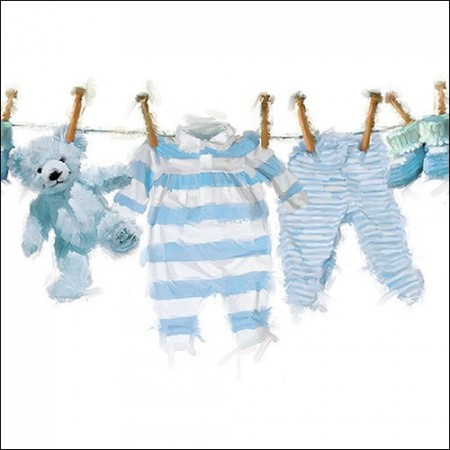 Servietter Baby Boy Clothes Lunsj 20stk