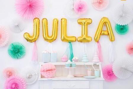 Folieballonger bokstaver Gull 35cm