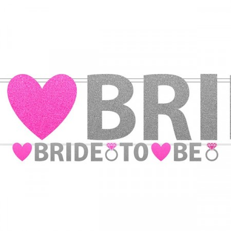 Banner Bride To Be Glitter  3.7m