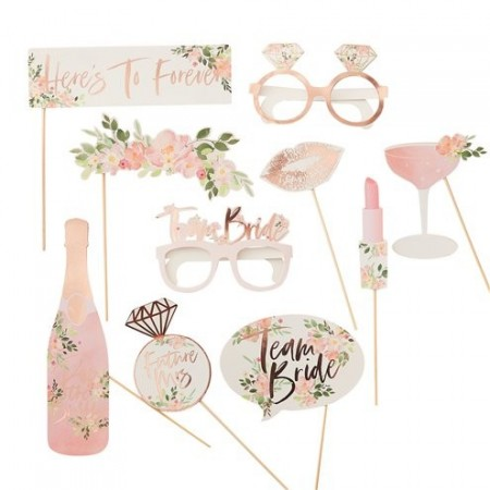 Floral Hen Party Photo Booth Props 10stk