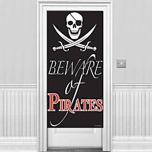 Beware of Pirates Dør Banner