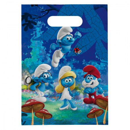 Smurfene Partybags 8 stk