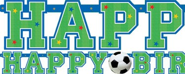 Fotball Happy Birthday Banner