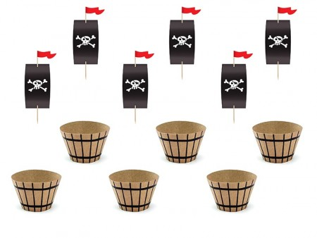Pirates Party Cupcake kit 6stk